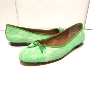 J Crew Lime Green Loafer Size 7.5